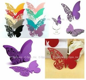10 Color 3D Butterfly Wine Glass Cake Wall Decoration Paper Wedding Bride Party