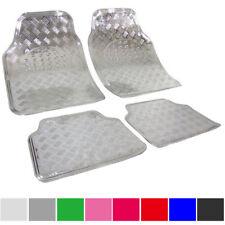 Universal Fußmatte Auto Matten Teppich 4tlg ALU LOOK Autoteppiche Silber 7104