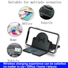 Newest Qi Wireless Auto Charger Car Foldable Holder Mount Non-Slip Mat Pad Fast