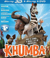 Lot of 100 Khumba (Blu-ray/DVD, 2014, 2-Disc Set, 3D) New