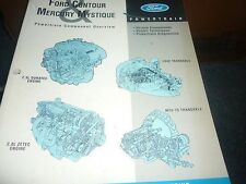 1995 FORD CONTOUR POWERTRAIN COMPONENT OVERVIEW MANUAL