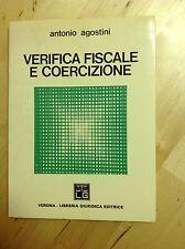 A.AGOSTINI VERIFICA FISCALE E COERCIZIONE LIBRERIA GIURIDICA 1977