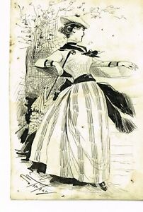 Pen and ink drawing for Puck by Samuel D. Ehrhart, 1880-1890s.