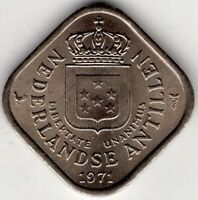 1971 NETHERLANDS ANTILLES 5 CENT NICE WORLD COIN