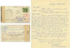 Sept 1942 Tonga WWII censored Tin Can Mail from Quensell to Crocker w/newspaper
