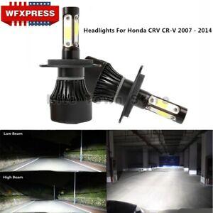 High Low Headlights Bulbs For Honda CRV CR-V 2007 - 2014 LED 6000K H4 9003 Lamp