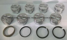 Chevy 350/5.7 Sealed Power/Federal Mogul Cast Flat Top Pistons+CAST Rings +30