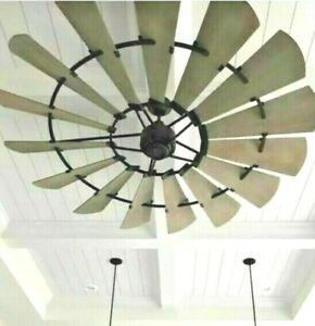 """NEW  72"""" Windmill Ceiling Fan Noir/Black  Indoor"""
