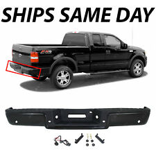 Rear Step Bumper For 2005-08 Ford F-150 Chrome Steel w// parking aid sensor holes