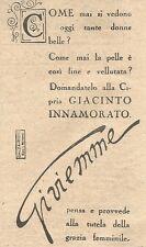 W2349 Cipria Giacinto Innamorato di Gi.vi.emme - Pubblicità del 1930 - Advert