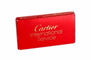 Cartier Pen Ink Cartridges Box of 10 Burgundy New