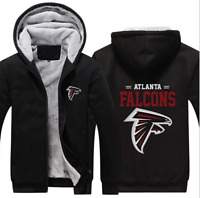Hot New Thicken Hoodie Team Atlanta Falcons Warm Sweatshirt Lacer Zipper Jacket