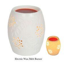 Village Candle 13cm Electric Wax Melt Burner Snowflake Ceramic White Lovely Gift