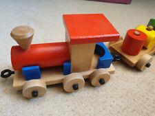 Bauzug Zug mit Klötzen Holzspielzeug Eisenbahn Spielzeug