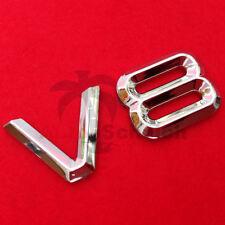V8 Emblem Signs Chrome Lettering Car Sticker Bonnet Fender Logo 3d