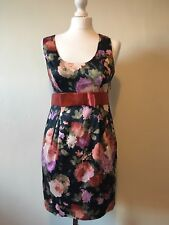 Miss Selfridge Floral Dress Size 10 BNWT Empire Waist Bow Occasion Wedding Party