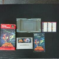 SUPER METROID Nintendo Super Famicom SNES With Box Manual Game Cartridge from JP