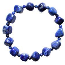 Premium CHARGED Natural Lapis Lazuli Crystal Custom 2-Bead Bracelet Stretchy