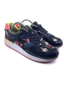 Ted Baker Phressya 2 Womens Trainers Shoes Blue Pink Floral Uk 7 40