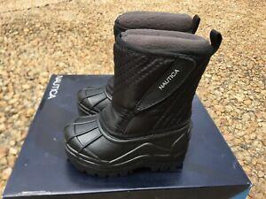NEW Nautica Winter Snow Boots Toddler Sz 5 Black Removable Fleece Lining 5c