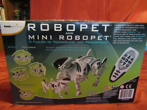 WowWee Robotics RoboPet & Mini RoboPet Trainable & Programmable Lifelike Action