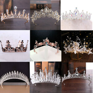 Women Girls Princess Elegant Crystal Tiara Crowns Bridal Wedding Crown Headband