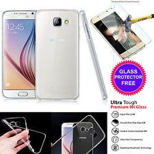 Ultra Delgado Transparente TPU Gel silicona piel funda + Vidrio Templado para Samsung S7