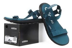 Adidas Men Original Comfort Slipper Blue-Green Shoes Slide Casual Sandals EG6691