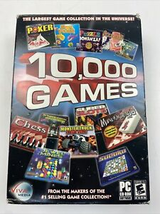 10,000 Games - PC CD Computer game in original package. 3 Cd's included