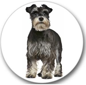 Miniature Schnauzer Dog Sticker Seals No.471, 12 round stickers, dog groomer