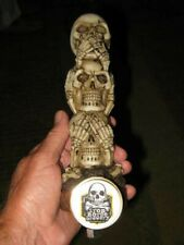 beer tap handle stacked skulls iron horse