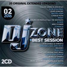 DJ ZONE BEST SESSION 02/2016 doppio CD unmixed selection per DJ originale NUOVO
