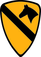 "Army 1st Cavalry Patch 5.5"" Sticker / Decal"