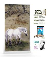 CHINESE ART GAO QIFENG WHITE HORSE ART