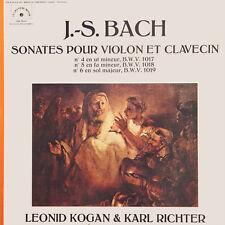 BACH Sonates Pour Violon Et Clavecin Kogan Richter FR Press Le Chant Du 78551 LP