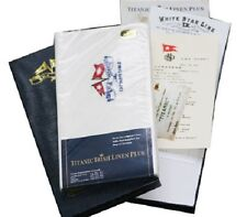 Reproduction Titanic Linen Place Mats in Presentation Box and Cert