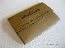 Vintage Style Sewing Needles Book Case - Kraft Craft Sew Gift - East of India