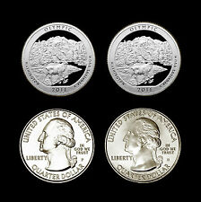 2011 P+D+S+S  Olympic WA America the Beautiful National Parks ~ In Coin Flips