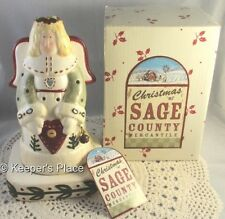 Christmas At Sage County Mercantile Holiday Folk Angel Candle Holder New Box