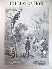 SOUDAN COLONIALE TELEGRAPHE MANUFACTURE DE SEVRES PORCELAINE L'ILLUSTRATION 1897