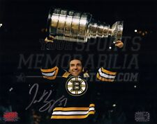 Patrice Bergeron Boston Bruins Signed Raising Stanley Cup Banner Night 8x10 H