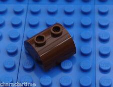 Lego 30165 2x2 parte superior curvada Ladrillo Marrón x 2 ** Nuevo Lego *