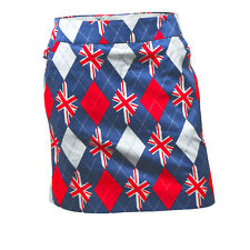 Womens Trew Brit Golf Skort by Royal and Awesome 6 -18 Union Jack Skirt UUK Flag
