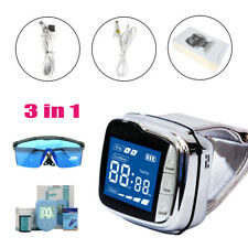 LASTEK 3 in 1 Laser Watch Therapy Device 650nm Goggles Blood Glucose Meter Kit