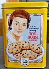 Nestle Toll House Yellow Cookie Tin Vintage Recipe - Retro Graphics - Recipe