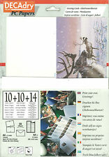 Decadry SPZ-2078 Greeting Cards Reindeer Christmas Card Make Your Own Card Paper