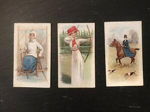 SPORTING GIRLS PLAIN BACKS 3 CARDS