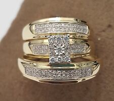 Yellow Gold Engagement Wedding Ring Sets With Diamonds For Sale Ebay