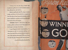 Byron Nelson's Winning Golf, 1946 1st edition hardcover, poor dust jacket, ill.