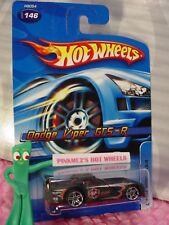 2005 Hot Wheels DODGE VIPER GTS-R #146 nc ☆black/maroon/red; pr5 ☆ Mainline